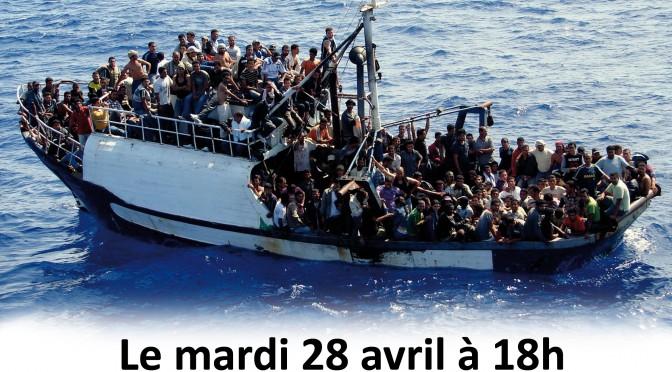 Marche silencieuse pour tous les migrants morts en mer.