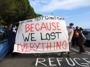 Nous ne rentrerons pas car nous avons tout perdu.