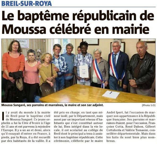 Bapteme republicain Moussa