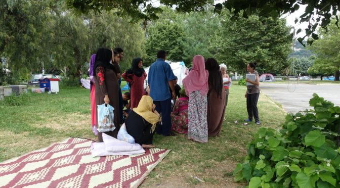 Solidarité avec les familles syriennes en errance à Nice