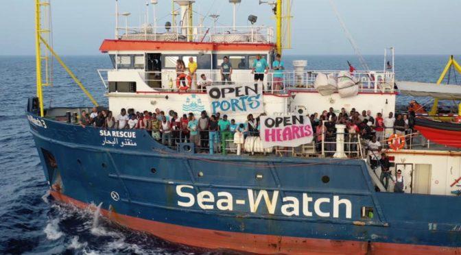 Rassemblement citoyen en soutien à la Sea-Watch3