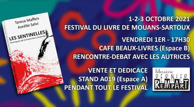 L'ouvrage «Les Sentinelles» au Festival du Livre de Mouans-Sartoux